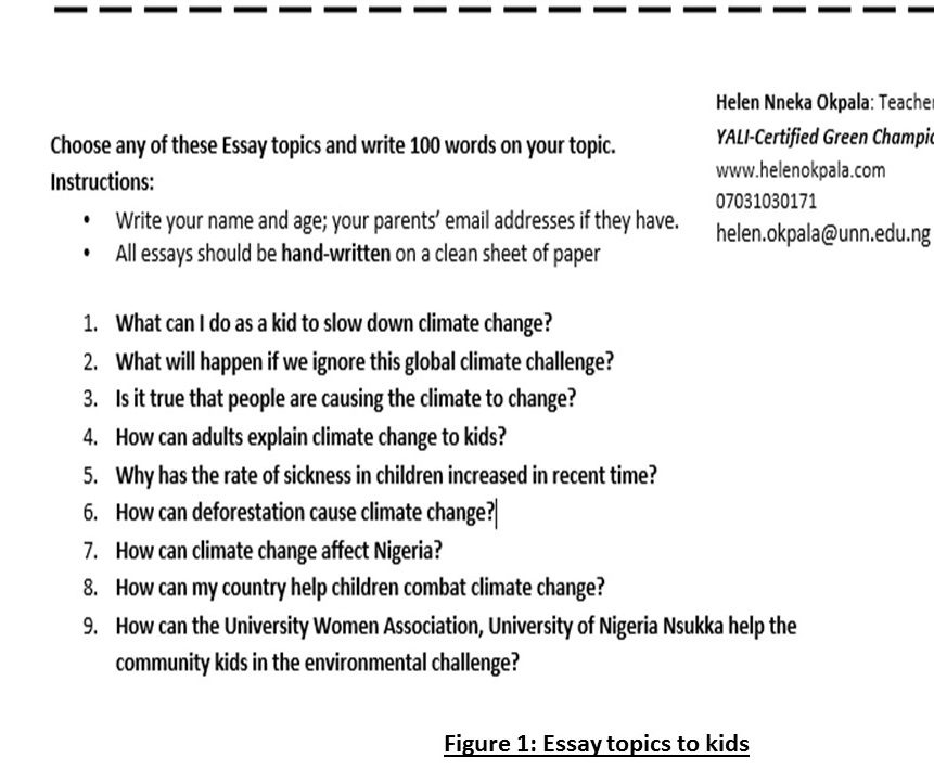 Essay On Iraq War Climate Literacy And Climate Action Unn Kids Helen Okpala S Essaypic Jpg W   Essay On Diwali For Kids In English Sample Essay About Me also Exposition Essay Examples Essay For Kids Climate Literacy And Climate Action Unn Kids Helen  Essays On Gender Discrimination